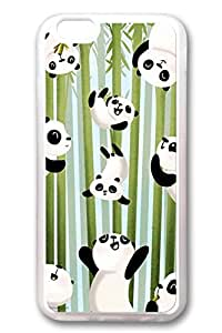 iPhone 6 Cases, Personalized Protective Soft Rubber TPU Clear Case Cover for New iPhone 6 4.7 inch Pandas