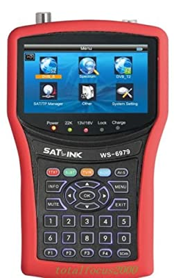 Uuni-WT® Satlink ws-6979 dvb-s2/dvb-t2, MPEG4 HD combo satellite finder HD Combo Spectrum analyzer