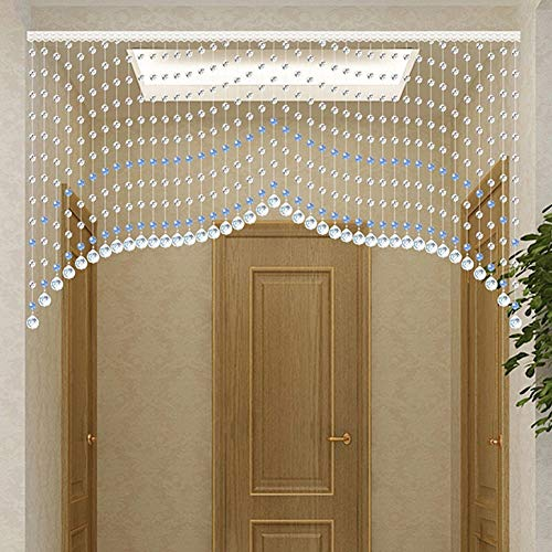 - WUFENG-Curtains Bead Curtain Light Transmission Arc Hanging Curtain Background Decoration Entrance Bedroom Door Curtain, A Variety of Styles Sizes Customizable (Color : E, Size : 160x90cm)