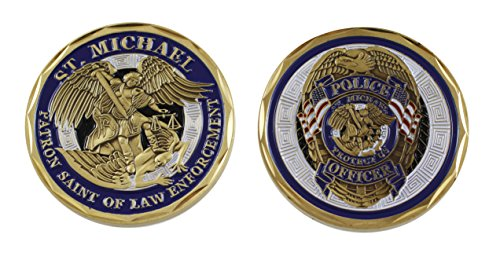 (Forge Police Officer St Michael Law Enforcement Challenge Coin Blue Enamel (Value Pack) (3 Pack))