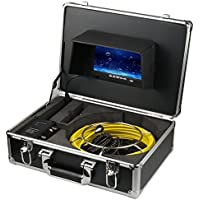 Ennio 20m Sewer Waterproof Camera Pipe Pipeline Drain Inspection System 7lcd DVR