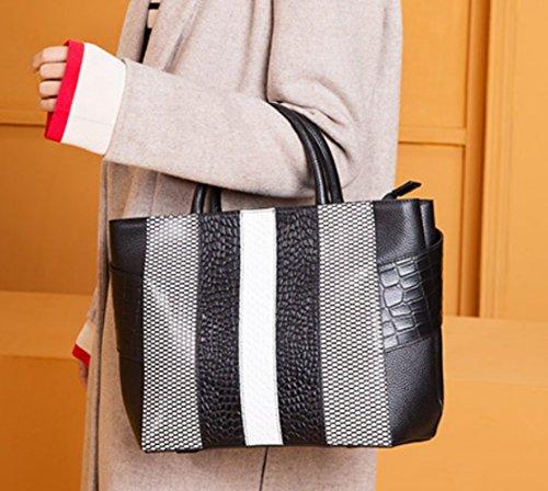 Bag Messenger Casual Bag Fashion Travel Shopping Black Lady Shoulder Handbag 6RqFaE