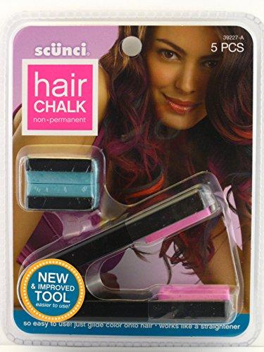 Price comparison product image Scunci Non Permanent Hair Chalk - Pink & Green Chalk Plus Applicator