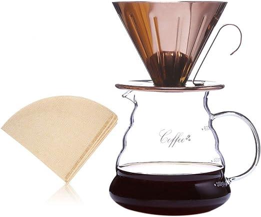 Kit de vertido de 600 ml, cafetera de goteo manual con gotero de ...