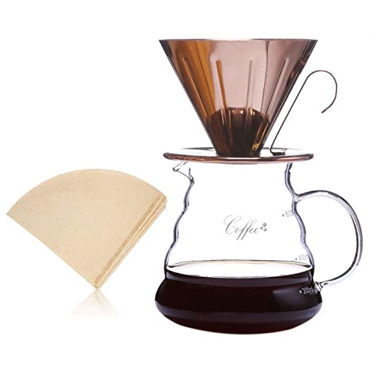 Kit de vertido de 600 ml, cafetera de goteo manual con gotero de ...
