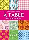 365 us et coutumes : À table par Masson
