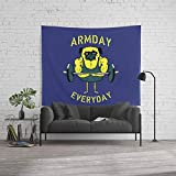 Society6 Wall Tapestry, Size Large: 88'' x 104'', Armday Everyday by pugsgym