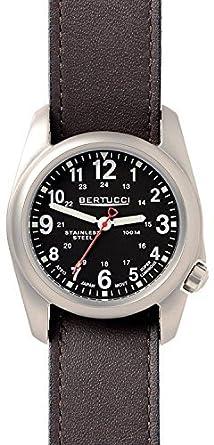Bertucci 11067 Unisex Edelstahl braun Leder Band Schwarz Zifferblatt Smart Watch