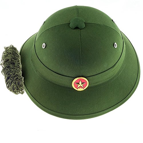 (Lysport Vietnamese Army Helmet with Red Star Badge and Camouflage)