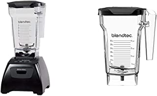 product image for Blendtec Classic Fit Blender with FourSide Jar (75 oz), 30-sec Pre-programmed cycle, Black & FourSide Jar (75 oz), Four Sided, Professional-Grade Blender Jar, Vented Latching Lid, BPA-free, Clear