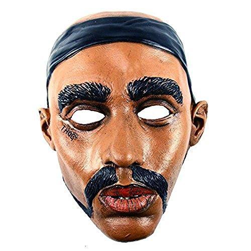 [LA Thug Life Halloween Costume Vinyl Mask - Tupac (2Pac) Shakur] (Tupac Costume)