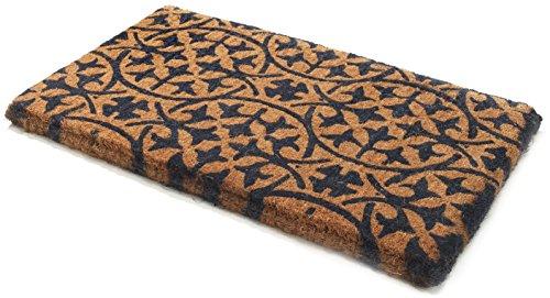 Handwoven, Extra Thick Doormat   Entryway Door mat for Patio, Front Door   Decorative All-Season   Blue Tile   24