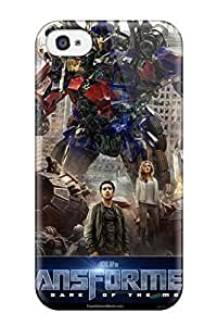 Fashion Tpu Case For Iphone 4/4s- Optimus Prime Transformers 3 Dark Of The Moon Defender Case Cover