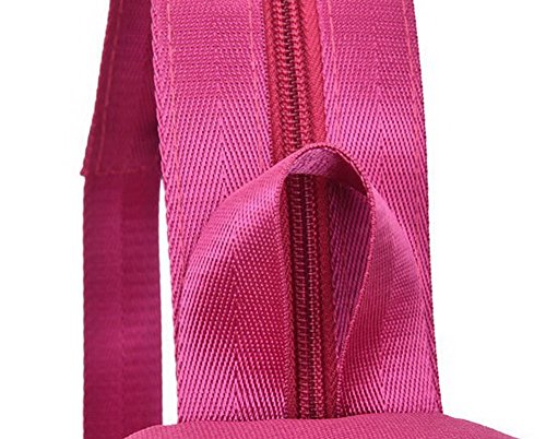 Toile bandoulière à Mode Sacs GMBBB181022 Femme Sacs Zippers bandoulière à AgooLar Cramoisi 5xw1U4gq