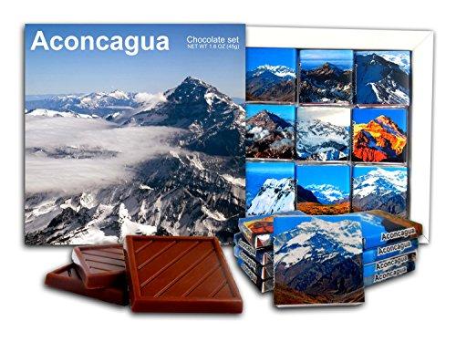 DA CHOCOLATE Candy Souvenir ACONCAGUA Chocolate Gift Set 5x5in 1 box - Cumbre La Plaza