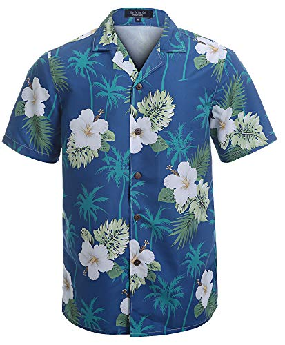 YEAR IN YEAR OUT Mens Hawaiian Shirt Regular Fit Hawaiian Shirts for Men with Quick to Dry Effect(NT1912,XL)