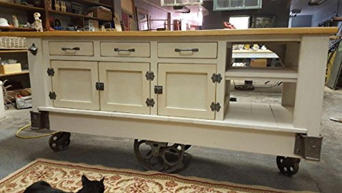 Genial Steampunk Industrial Kitchen Island With Drop Leaf Top