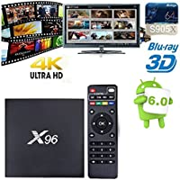 X96 Android 6.0 WIFI 2GB/16GB Smart TV Box with Amlogic S905X Quad Core 64 Bits and True 4K Playing