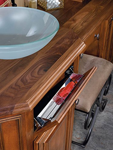 Rev-A-Shelf 31'' Stainless Steel Tip Out Tray with soft close hinges by Rev-A-Shelf