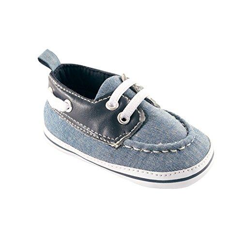 Luvable Friends Boy's Boat Shoe (Infant), Chambray, 0-6 Months M