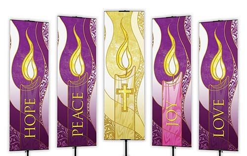 US Gifts Advent Banners: 2'x6' 5/Set