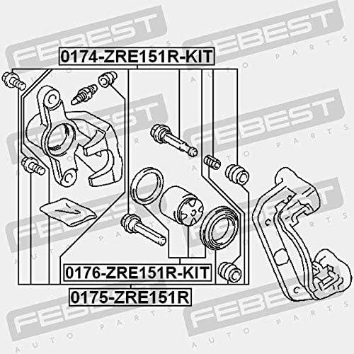 Febest REAR CALIPER SLIDE PIN 0174-ZRE151R-KIT