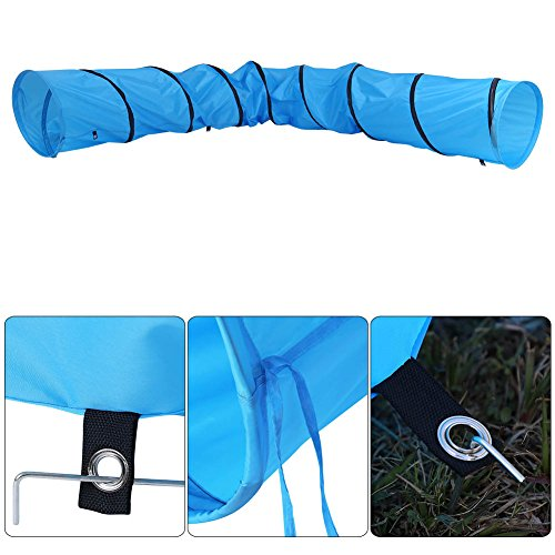 Cat Tunnel, Portable Folding Waterproof Pet Dog Rabbit Kittens Puppies Playing Tube Training Exercise Fun Tunnel Toy with Carry Bag-Diameter 16/23inch- Length 13FT/18FT (Diameter-16inch, Length 13FT) by Yosooo