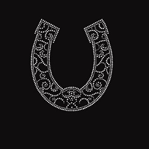 Elegant Horseshoe Rhinestone Iron on T Shirt Design