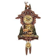 Whitetail Deer Gathering Cuckoo Clock by The Bradford Exchange