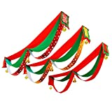 Christmas Wavy Flag Three Flag Pull Flags Festive Decorations Hanging Flag Christmas Shopping Mall Window Flags Flags Hanging Flags Snowflake cloth 3 meters 3 waves