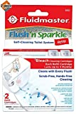 Fluidmaster 8302P8 Flush 'n Sparkle Automatic Toilet Bowl Cleaning System Refills, Bleach 4-Pack