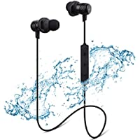 Bluetooth Headphones, Naporon IPX6 Magnetic Wireless Earbuds Sweatproof for Sports In-Ear Earphones, Lightweight and Fast Pairing (CVC6.0, HD Calling, APTX stereo, Fast Charging - Black)