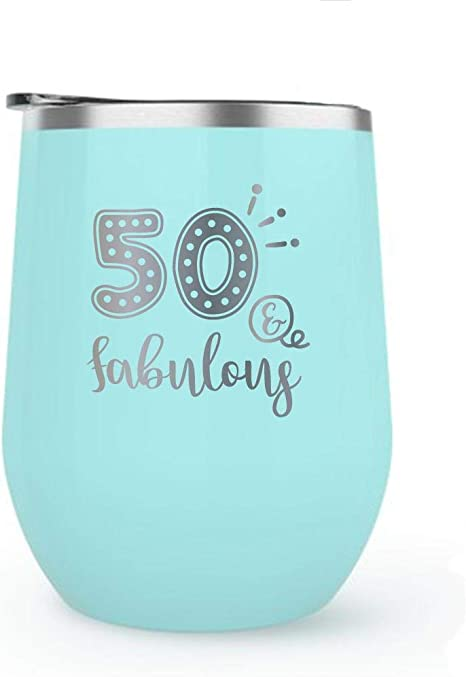 50 Birthday Gift For Women Engraved Personalized Wine Tumbler With Lid Wine Glass Gift Funny Mug 50th Birthday Wine Tumbler Matte
