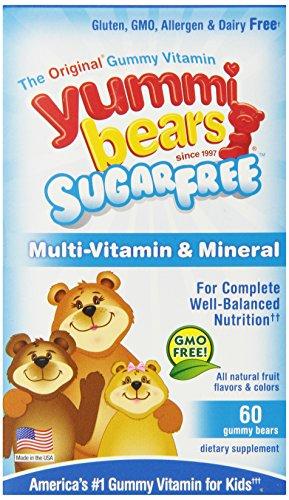 Yummi Медведи витаминов и минералов, без сахара, 60 граф
