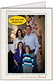 Photographer's Edge, Photo Insert Card, Natural, Christmas is the best time for remembering Friends, Set of 10 for 4x6 Photos