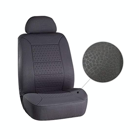 AUTOMUTO Black//Gray Full Set Seat Covers Front Rear Coverage Protection for Cars