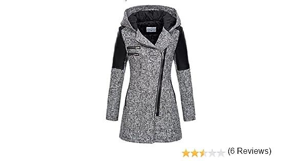 CRAVOG Chaquetas Invierno Slim Abrigos con capucha para mujer: Amazon.es: Ropa y accesorios