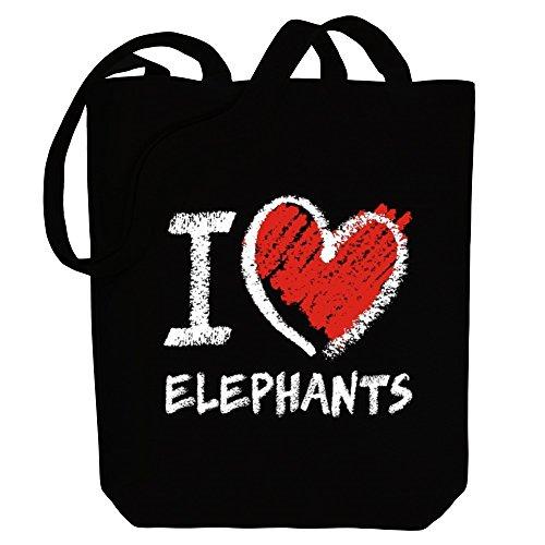 De Tiza Animales Idakoos Lona Bolsos Elefantes Estilo Amo E1araqY