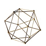 Torre & Tagus 902237B Polygon Décor Ball, Medium, Antique Brass