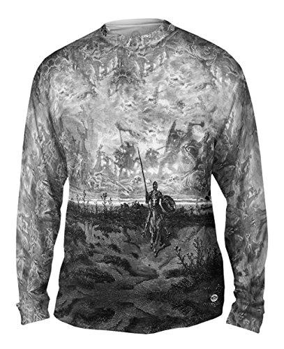 Yizzam- Gustave Dore - Don Quixote (1891) -Tshirt- Mens Long Sleeve-X-Large