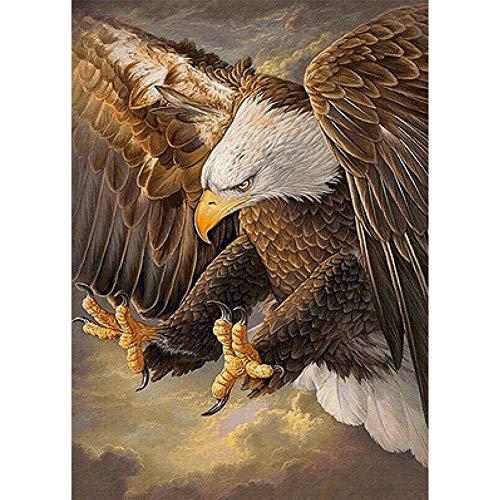 5D DIY Diamond Painting Art Kit Cross Stitch by Number Kit Arts Craft Wall Decor Embroidery Painting Eagle Pattern (Pattern E) ()