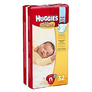 Huggies Little Snugglers Diapers, Newborn, Pack/32