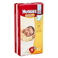 Huggies Little Snugglers Diapers, Newborn, Pack/32