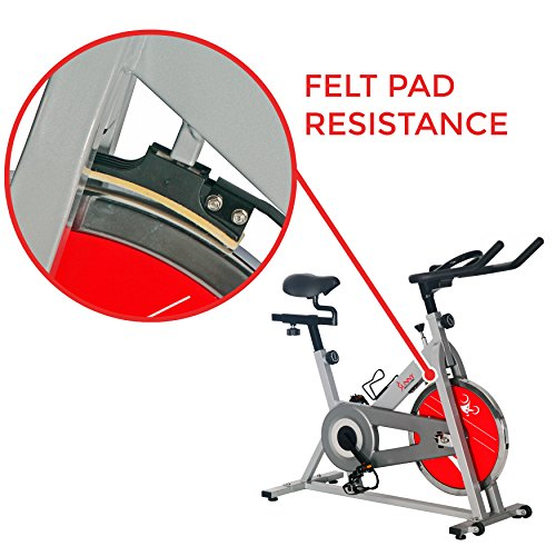 Sunny Health & Fitness SF-B1001S Indoor Cycling Bike, Silver by Sunny Health & Fitness (Image #7)