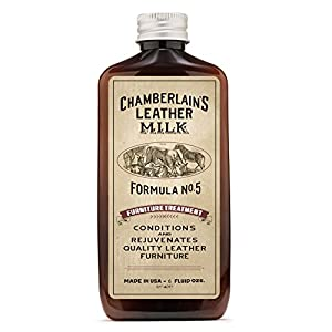 Leather Milk Leather Furniture Conditioner and Cleaner - Furniture Treatment No. 5 - For All Natural, Non-Toxic Leather Care. Made in the USA. 2 Sizes. Includes Premium Applicator Pad!