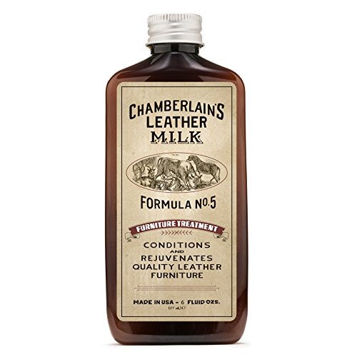 Treatment Milk - Leather Milk Leather Furniture Conditioner and Cleaner - Furniture Treatment No. 5 - for All Natural, Non-Toxic Leather Care. Made in The USA. 2 Sizes. Includes Premium Applicator Pad!