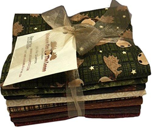 Moose on the Loose 8pc Fat Quarter Bundle By Cheryl Haynes for Benartex by Benartex
