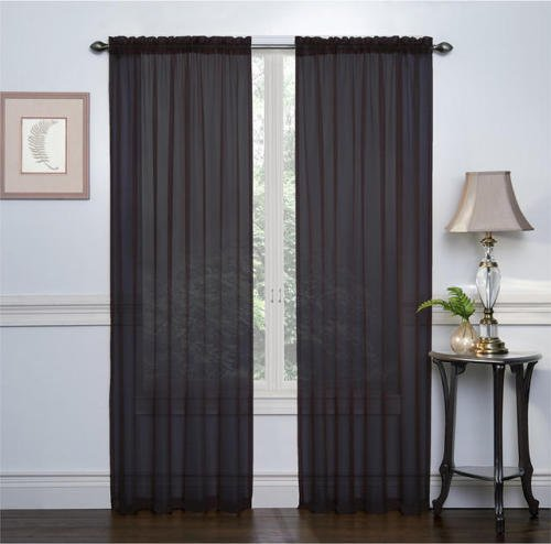2 Pack: Ultra Luxurious High Thread Rod Pocket Sheer Voile