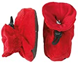 Melton Cotton Corduroy Booties - Red (12-24m)