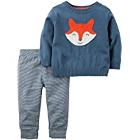 Carter's Baby Boys 2 Pc Sets, Blue, 6 Months